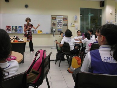 writing workshop at CHIJ Kellock5
