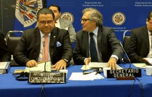 Los términos de la cooperación, fueron suscritos en Washington, por el Secretario General de la OEA, Luis Almagro; el Canciller de Honduras, Arturo Corrales; y el Secretario General Adjunto para Asuntos Políticos de la ONU, Jeffrey Feltman