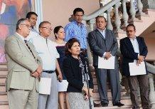 Los representantes de la prensa fueron guiados por la hermana del Presidente y secretaria de Comunicación y Estrategias, Hilda Hernández.