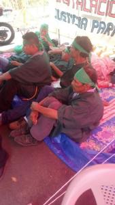 Los Tolupanes o Xicaques llegaron a la huelga para quedarse hasta que haya una respuesta gubernamental.