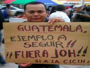 Las movilizaciones de las antorchas en Honduras están siendo inspiradas por Gautemala.