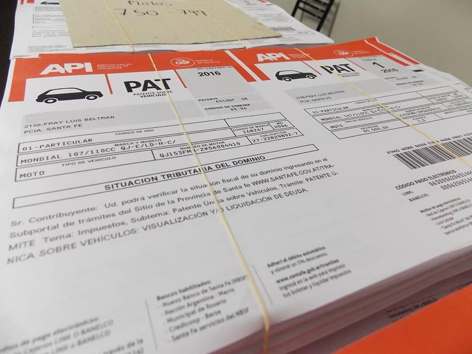 Beltrán: ya están disponibles los impuestos inmobiliario y