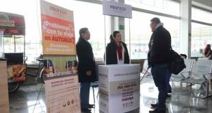 Profeco instala módulo de atención en central de autobuses de Pachuca