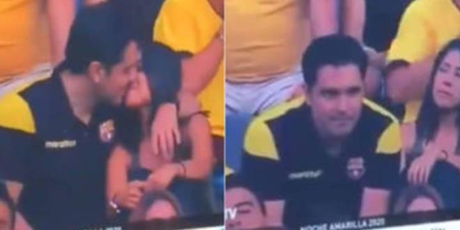 """""""No hubo beso"""", dice hombre captado en la Kiss cam en un estadio"""