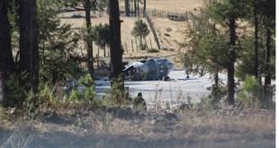 Cae helicóptero de Sedena en pista en Chihuahua