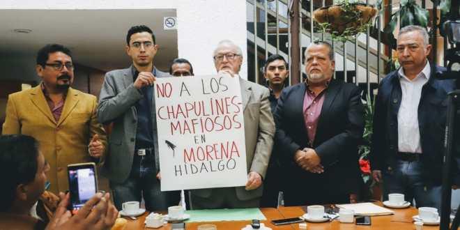 Militantes de Morena rechazan a chapulines para candidaturas