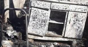 Familia de escasos recursos pierde su vivienda en incendio en Ixmiquilpan