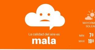 Registran mala calidad del aire en Pachuca este martes