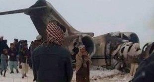 Avión se estrella en Afganistán, talibanes afirman que es estadounidense