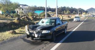 Muere una persona atropellada en la carretera Pachuca-Tulancingo