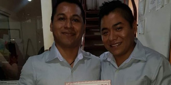 De Veracruz, contrayentes de unión gay en Huejulta