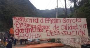 En Huehuetla, cinco días de bloqueo; sin solución a peticiones