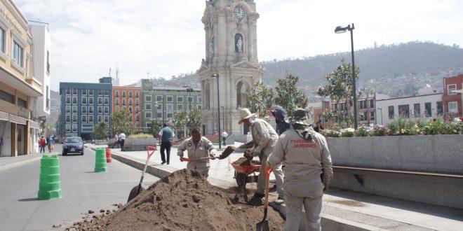 Cancelan licitación para rehabilitar plaza Independencia de Pachuca