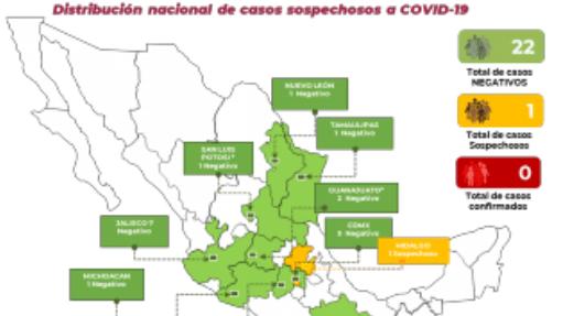 Bajo análisis, un posible caso de coronavirus en Hidalgo