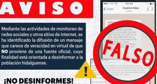 ¡Cuidado! Circula en redes alerta FALSA: SSPH