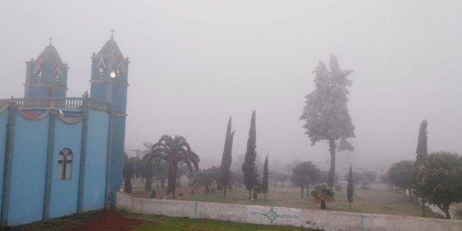Registran temperatura de hasta -4 grados en Acaxochitlán