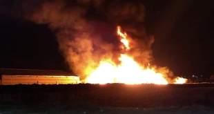 Arde durante la madrugada una fábrica de reciclaje en Tolcayuca