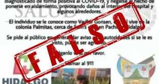 Desmienten supuesta fuga de joven con Covid-19 en Pachuca