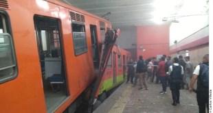trenes del Metro en Tacubaya
