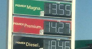 Este sábado, gasolina Magna se vende desde $13.49 hasta $19.25 en Pachuca