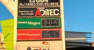 Este miércoles, gasolina Magna se vende de $13.71 a $19.25 en Pachuca