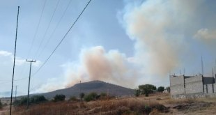 Se incendia cerro en el Huixmí; no hay peligro para la población