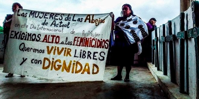 Protestan mujeres indígenas contra violencia de género
