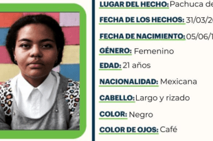 Se busca a Charlotte Jean Ortega, no localizada en Pachuca