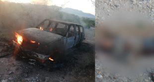 Encuentran cuerpo y una camioneta calcinada en Chapantongo