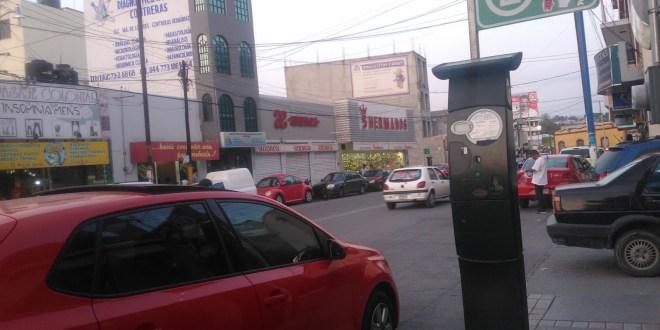 Cobro de parquímetros en Pachuca queda suspendido