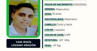 Se busca a Yair Jesús Lozano Aragón, desapareció en Tepeapulco