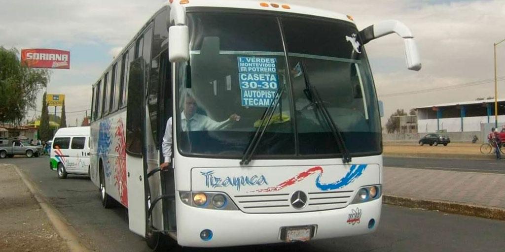 Operadores de autobuses de Tizayuca piden baja voluntaria