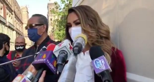 Ninel Conde acude a Palacio Nacional a pedirle ayuda a AMLO