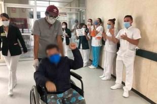 Paciente con Covid-19 es dado de alta en Tizayuca