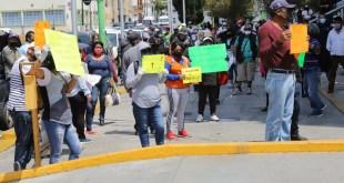 Tianguistas de Mineral de la Reforma piden volver a trabajar