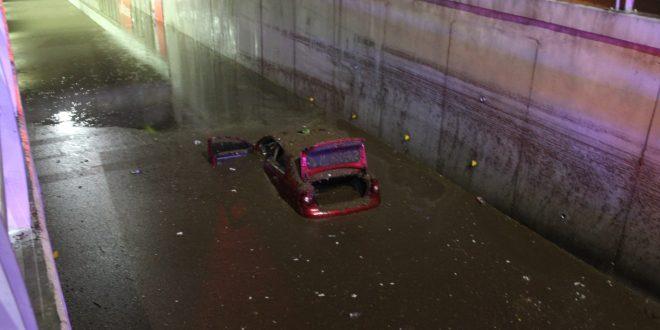 Lluvia causa inundaciones en la zona metropolitana de Pachuca