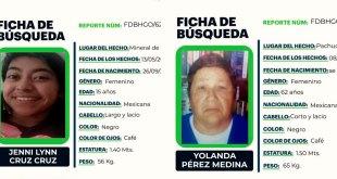 Se busca a dos mujeres que desaparecieron en la zona metropolitana de Pachuca