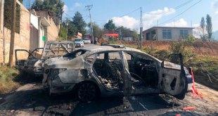 Impiden sanitización y queman patrullas en Estado de México Otzolotepec