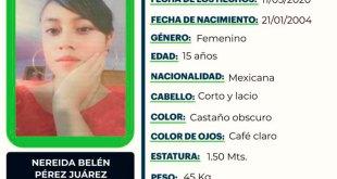 Nereida Belén Pérez desapareció en Pachuca, ayúdala a regresar a casa