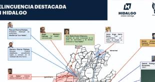 Alcaldes de Hidalgo, entre 17 principales objetivos en la búsqueda de delincuentes