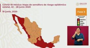 Hidalgo semáforo naranja Secretaría de Salud