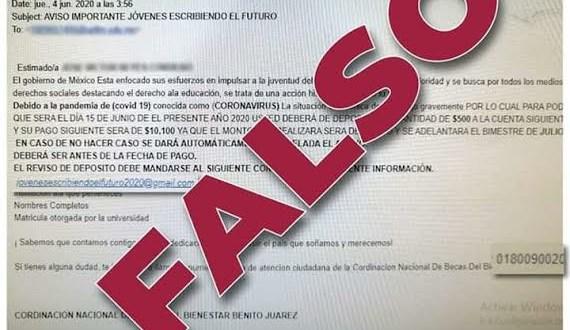 becarios Cobaeh fraude correo falso