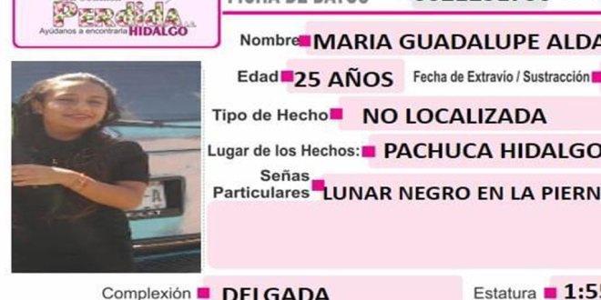 Piden ayuda para localizar a Guadalupe Aldana; se extravió en Pachuca