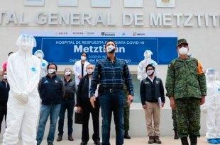 Habilitan Hospital General de Metztitlán para recibir pacientes Covid-19