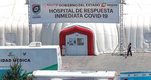 En 10 días, en Hidalgo mil 173casos de Covid-19 y 159 defunciones