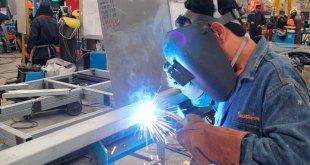 Actividad industrial México histórica caída abril