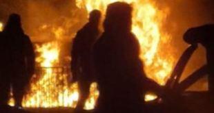 Se incendia vivienda en Ixmiquilpan tras fuga de gas; un herido