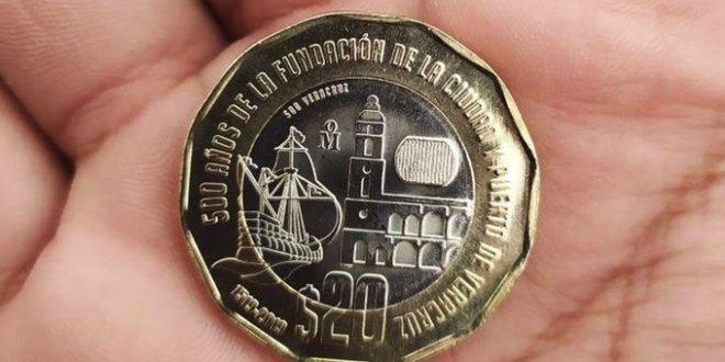 Nueva moneda de 20 pesos circula en algunos estados de México