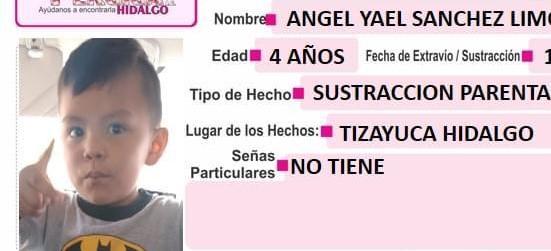 Buscan a Ángel Yael, sustraído de su domicilio por su abuela paterna