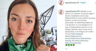 Regina Blandón causa polémica redes aborto legal